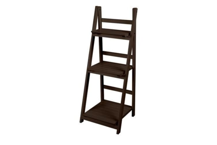 watch 0d50d 41d03 3 Tier Wooden Ladder Shelf Stand Storage Book Shelving Display Rack