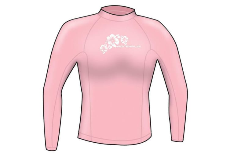 Adrenalin Ladies Rash Vest Lycra Long Sleeve 12 Pink