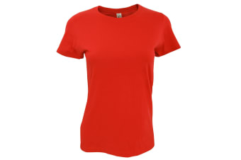 SOLS Womens/Ladies Imperial Heavy Short Sleeve T-Shirt (Hibiscus) (M)