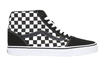 Vans Men's Ward Hi Checkerboard Shoe (Black/True White, Size 10.5 US)