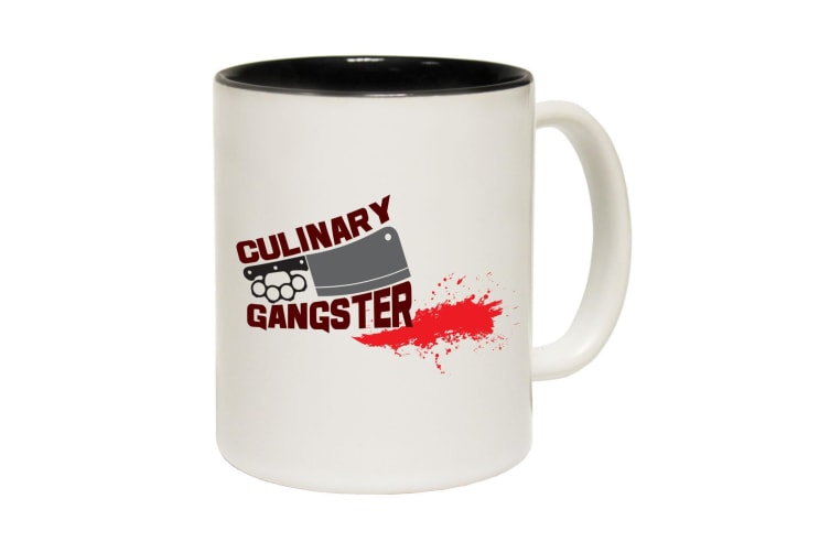 123T Funny Mugs - Culinary Gangster - Black Coffee Cup