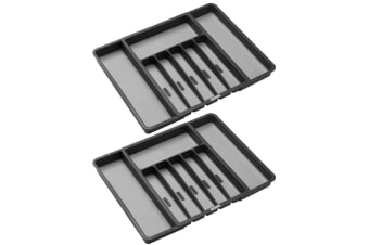 2x MadeSmart Expandable Kitchen Fork Knives Spoon Drawer Organiser Cutlery Tray