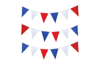 Bristol Novelty Red/White/Blue Triangle Bunting (Red/White/Blue)