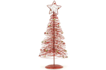 Christmas Shop Spiral Wire Table Top Tree (Red)