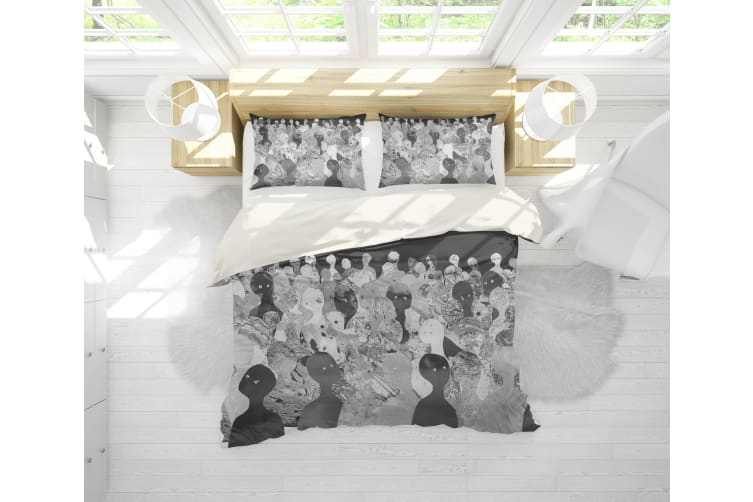 3D Band Radiohead Quilt Cover Set Bedding Set Pillowcases 71-Single