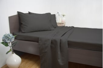 Ardor 1900TC Cotton Rich Sheet Set Charcoal