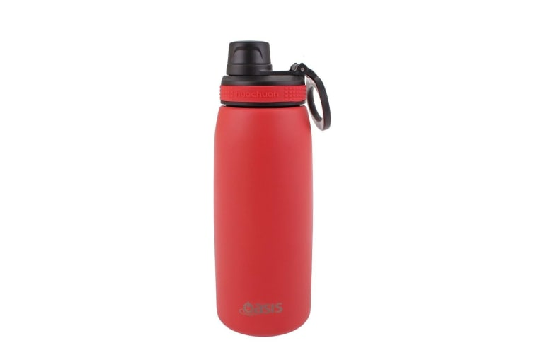 Oasis 780ml Stainless Steel Double Wall Insulated Sports Bottle Screw Cap Coral