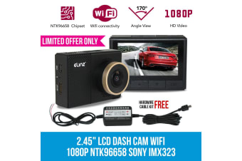 Elinz 2.45 inch LCD Dash Cam Camera Video Car Recorder Wifi 1080P NTK96658 SONY IMX323 Free Hardwire Cable