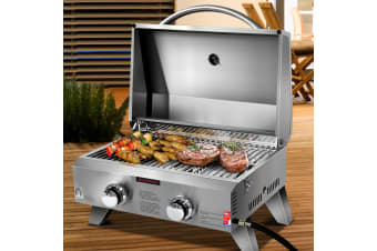 Portable Gas Oven BBQ 2 Burners LPG Stove Outdoor Camping Cooking
