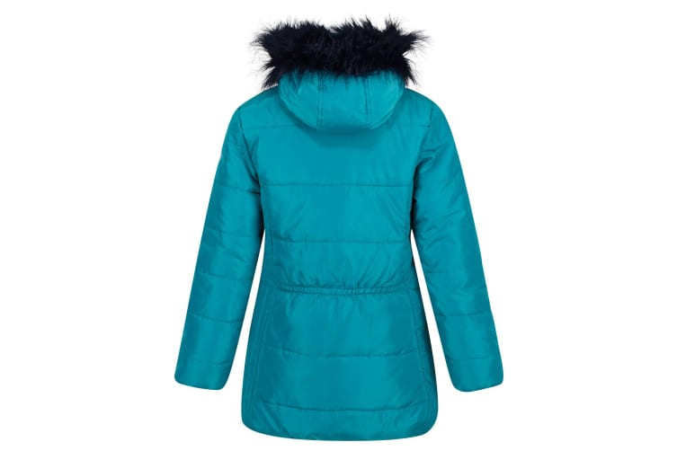 Regatta Childrens/Kids Bluebelle Quilted Hooded Jacket (Deep Lake) (3-4 Years)
