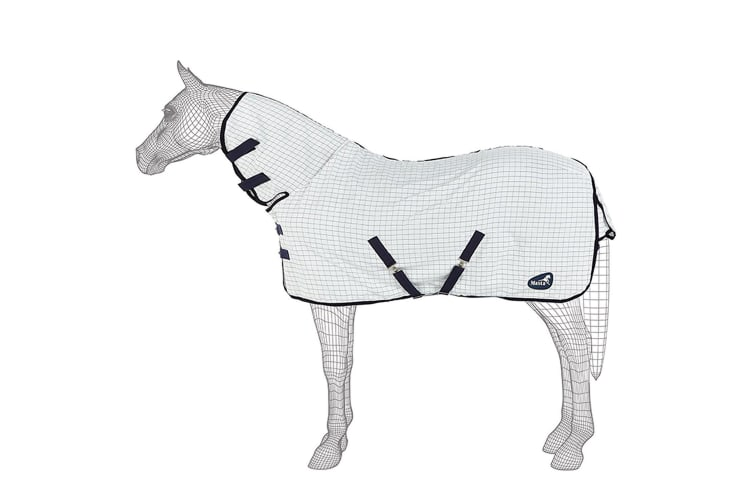 Masta SS18 Summer Fixed Neck Horse Rug (White Check) (6ft 6)