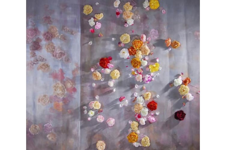 Colorful Blossoms 2 Woven paper (need glue), XL 208cm x 146cm (HxW)(82''x58'')
