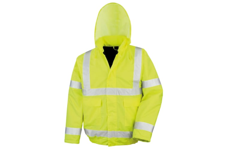 Result Core High-Viz Winter Blouson Jacket (Waterproof & Windproof) (Pack of 2) (HI-Viz Yellow) (XL)