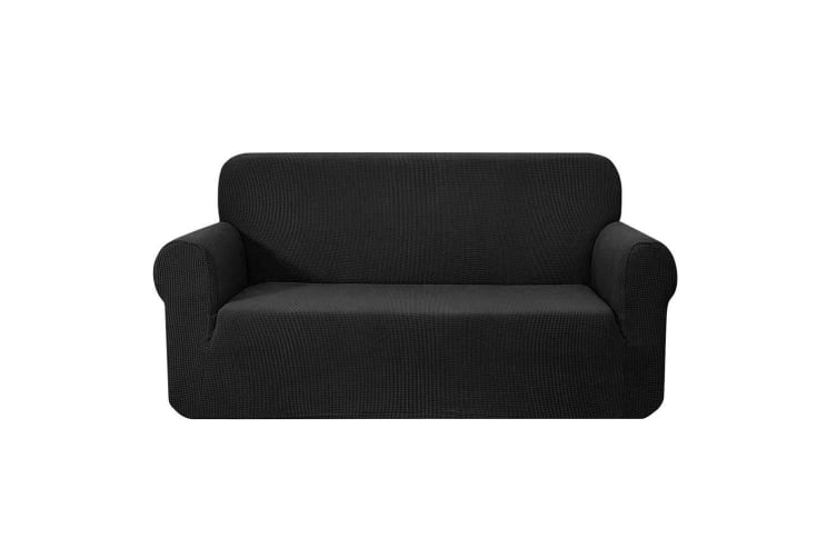 Artiss High Stretch Sofa Cover Couch Lounge Protector Slipcovers 3 Seater Black
