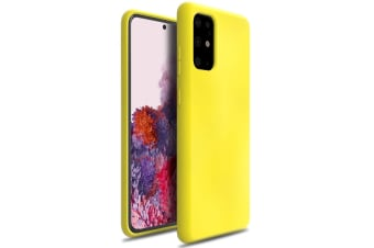 ZUSLAB Galaxy S20+ S20 Plus 4G 5G 2020 Nano Silicone Case Shockproof Gel Rubber Bumper Protective Cover for Samsung - Yellow