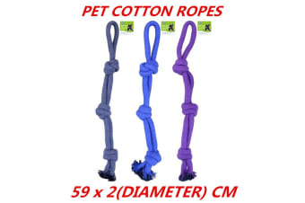 3 x Jumbo Heavy Duty Dog Rope Toys Chew For Large Dog Breeds Super Strong 59CM