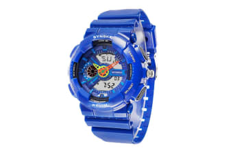 Children'S Waterproof Sports Watch Fashion Electronic Watch Blue