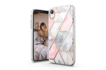 TITSHARK Marble Pattern Shockproof Tough High-quality stylish Case Cover For iPhone XR-Pink