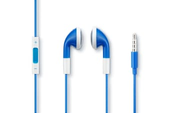 Kogan Earbud Headphones with Inline Remote & Mic (Blue)