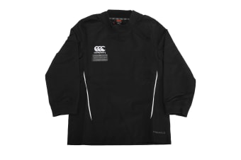 Canterbury Childrens/Kids Team Water Resistant Long Sleeve Rugby Contact Top (Black/White) (8)