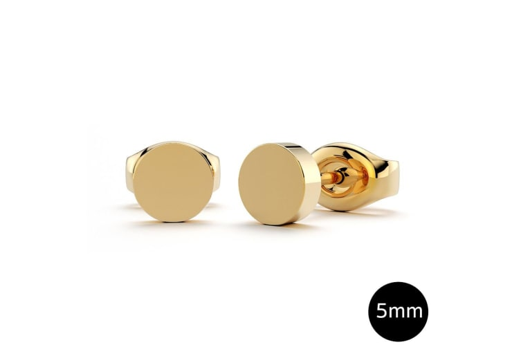 Simplicity Stud Earrings 5mm|Yellow Gold