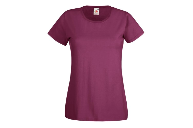 Fruit Of The Loom Ladies/Womens Lady-Fit Valueweight Short Sleeve T-Shirt (Burgundy) (2XL)