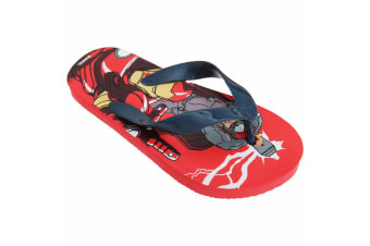 Marvel Avengers Childrens Boys Toe Post Flip Flops (Red)
