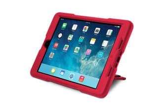 Kensington Red Blackbelt Rugged Case and Stand for iPad Air
