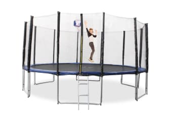 16ft Trampoline With Ladder & Basketball Hoop