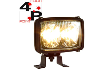 FOUR POINT TWIN BEAM WORK LAMP LIGHT 12 VOLT 55W HALOGEN SEALED SPOT 0387415