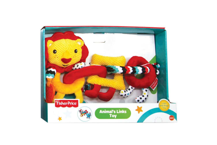 Fisher Price Animal Links/Rings Teether Toy f/ Baby 6m+