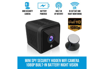 Elinz Mini Spy Security Hidden WiFi Camera 1080P CCTV Built-in Battery Night Vision 180 mins