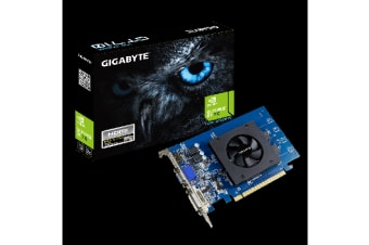 Gigabyte nVidia Geforce GT 710 1GB DDR5 PCIe Video Card 4K 3xDisplays HDMI Dual Link DVI VGA Full Profile Fan 954MHz ~GV-N710D3-1GI