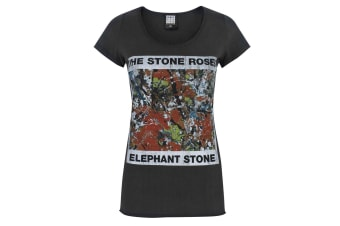 Amplified Womens/Ladies Stone Roses Elephant Stone T-Shirt (Charcoal)