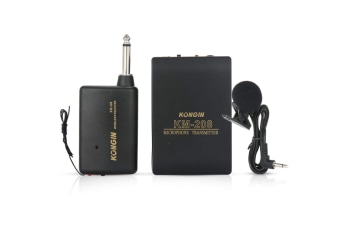Wireless Lapel Microphone, Lavalier Microphone KM208 Microphone System with Transmitter & Receiver for Teaching Speech and Spy Lavalier Lapel Microphone