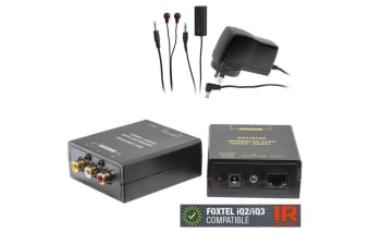 Composite RCA AV Video/Audio Cat5 Extender/IR emitter/Foxtel iQ2/iQ3 Compatible