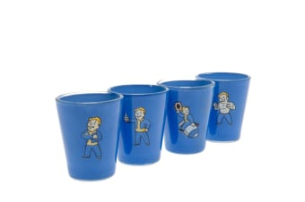 Fallout Premium Shot Glass Set (Pack Of 4) (Blue) (One Size)