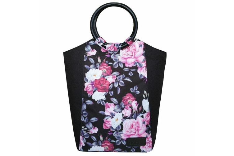 2PK Sachi Insulated Lunch Carry Tote Picnic Storage Portable Bag Midnight Floral
