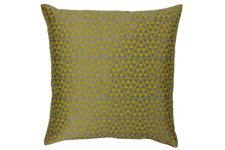 Paoletti Louvre Cushion Cover (Warm Olive/Silver) (One Size)