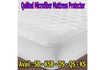 Microfibre Quilted Mattress Protector - DOUBLE