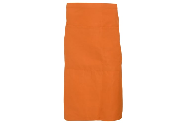 Dennys Adults Unisex Catering Waist Apron With Pocket (Pack of 2) (Orange) (One Size)
