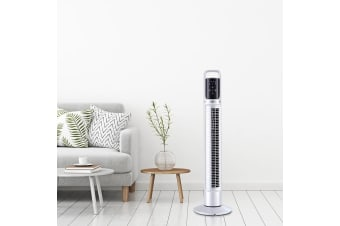 80cm 32 Tower Fan Oscillating Portable Bladeless Fans Remote Timer Home White