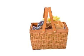 Deluxe Picnic Basket Indoor Outdoor Baskets Corporate Blanket Park Trip  -  G