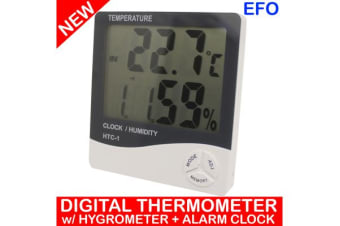 Digital Thermometer Hygrometer + Alarm Clock Large Lcd Display ?C/?F %Rh It-301