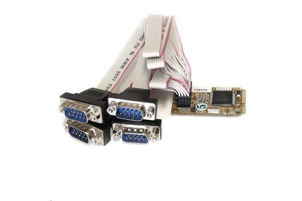 StarTech 4 Port Mini PCIe Serial Card w/ 16650