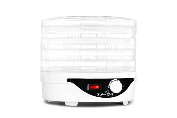 5 Tray Round Food Dehydrator (White)
