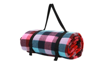 Picnic Blanket with Carry Bag 2.5x2.5m (Multi)