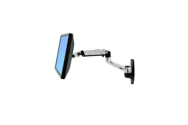 ERGOTRON LX WALL MOUNT LCD DISPLAY ARM POLISHED ALUMINIUM MAX SIZE 24IN MAX WEIGHT 9.1KG