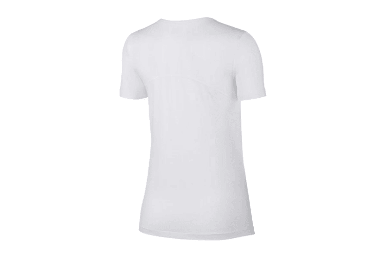 Nike Women's Pro Mesh Training Tees (White, Size M)
