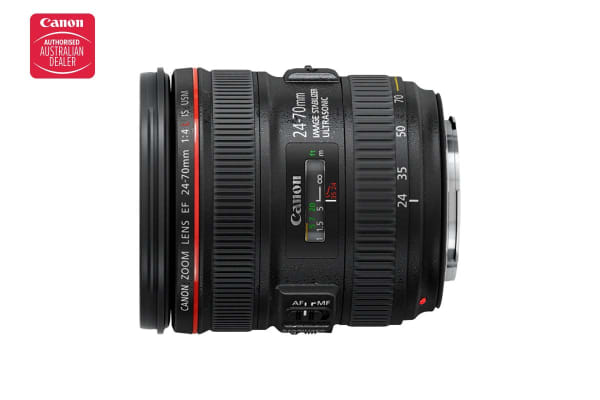 Canon EF 24-70mm f/4L IS USM Lens with 77mm Diameter to suit Lens Hood EW-83L (EF24-7040LISU)